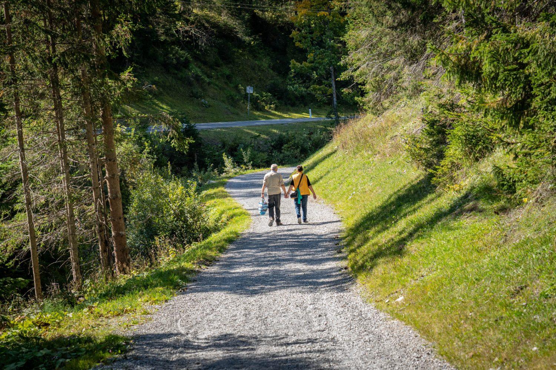 Pilger auf dem Lechtaler Jakobsweg