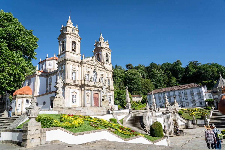 Blick auf das Kloster Bom Jesus de Monte