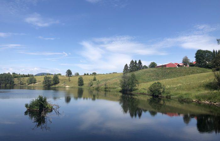 Olavsweg Norwegen See hinter Eidsvoll