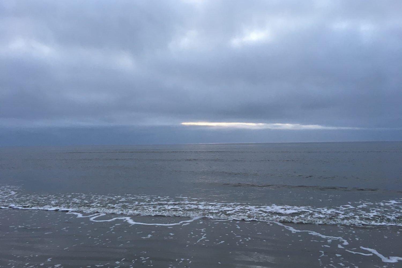 Nordsee bei Bewölkung
